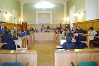 Foto del Consiglio Provinciale riunito nella Sala Consiliare